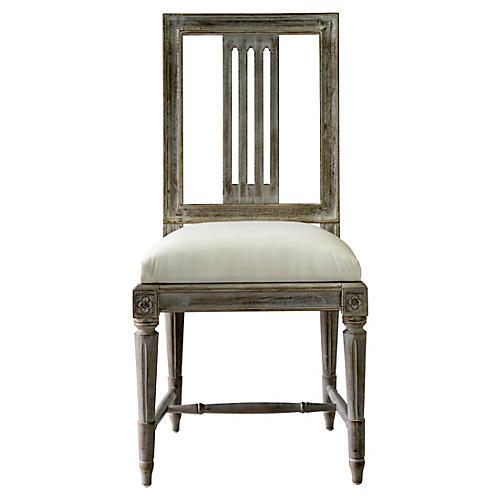 Aria Side Chair, Whitewash