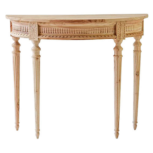 Camille Demilune Console, Natural