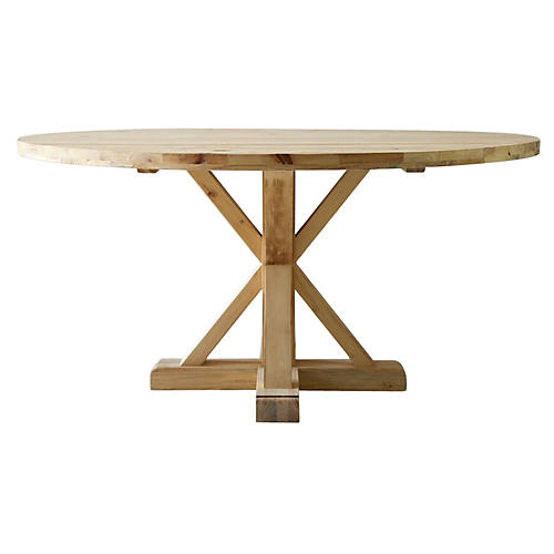 "Jax 60"" Round Dining Table, Natural"