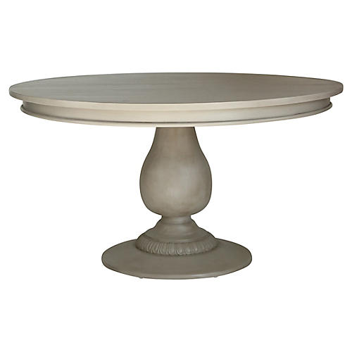 Charlotte Round Dining Table, French Linen