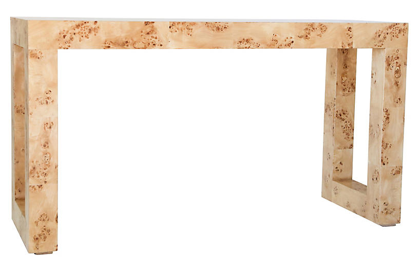 Chloé Console, Honey Burl