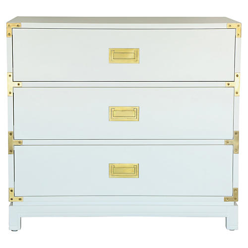 Carlyle Campaign Dresser, White