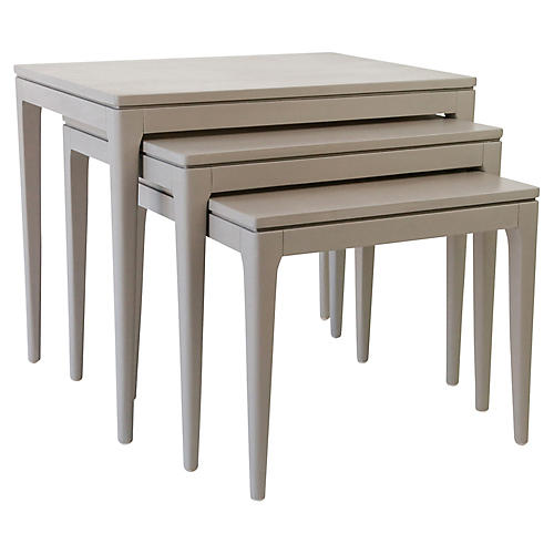 Asst. of 3 Mollie Nesting Tables, Gray