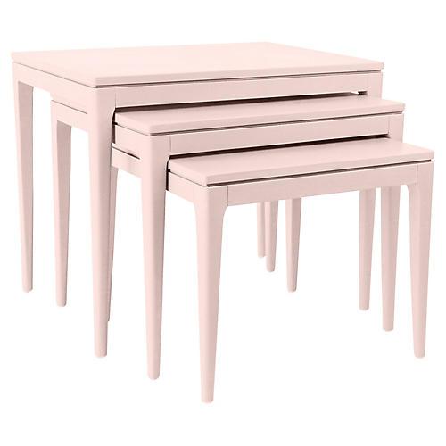 Asst. of 3 Mollie Nesting Tables, Blush