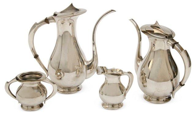 Silverplate Tea & Coffee Set, 4 Pcs.