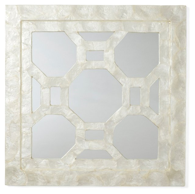 Octagon Capiz Mirror