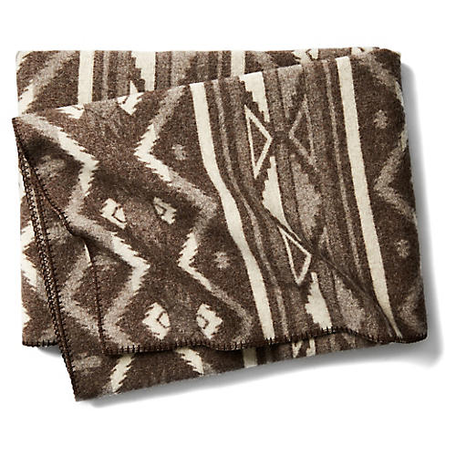 Somerton Jacquard Throw, Brown