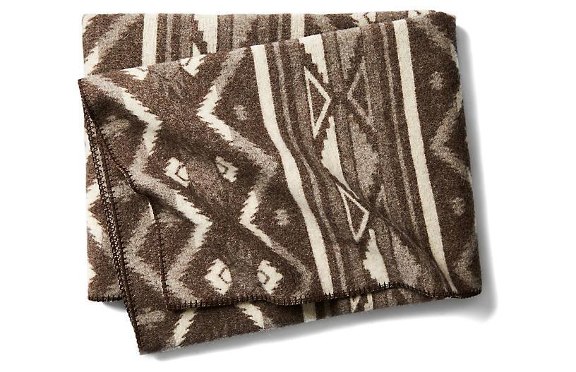 Somerton Jacquard Throw - Brown - Woolrich