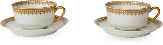 Coffee Cups  & Saucers, 2 Pairs