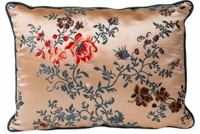 Vintage Asian Textile Pillow