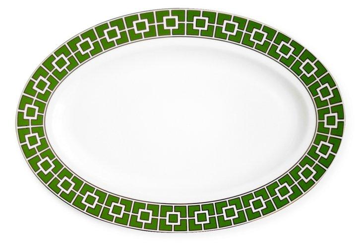 Nixon Serving Platter, Green & Platinum