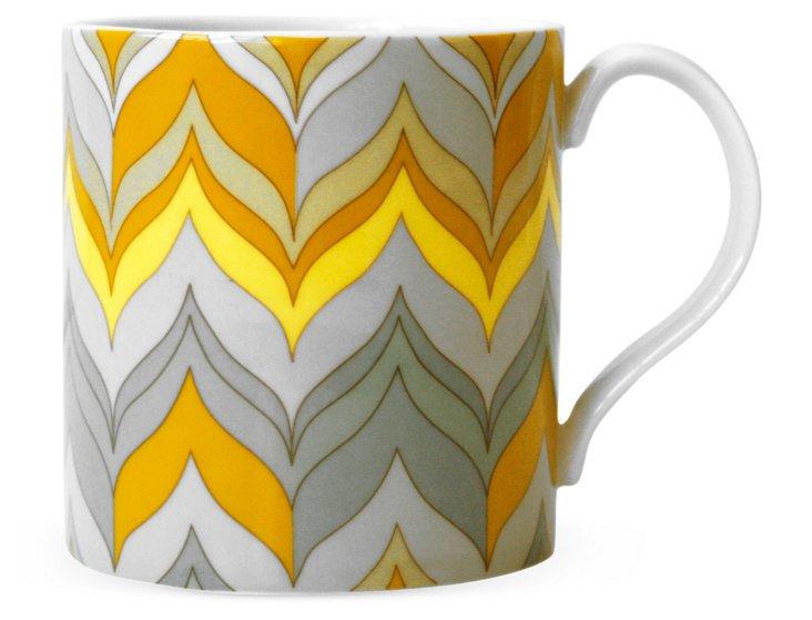Carnaby Flame Mug, Yellow