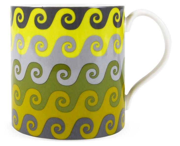 Carnaby Waves Mug, Green