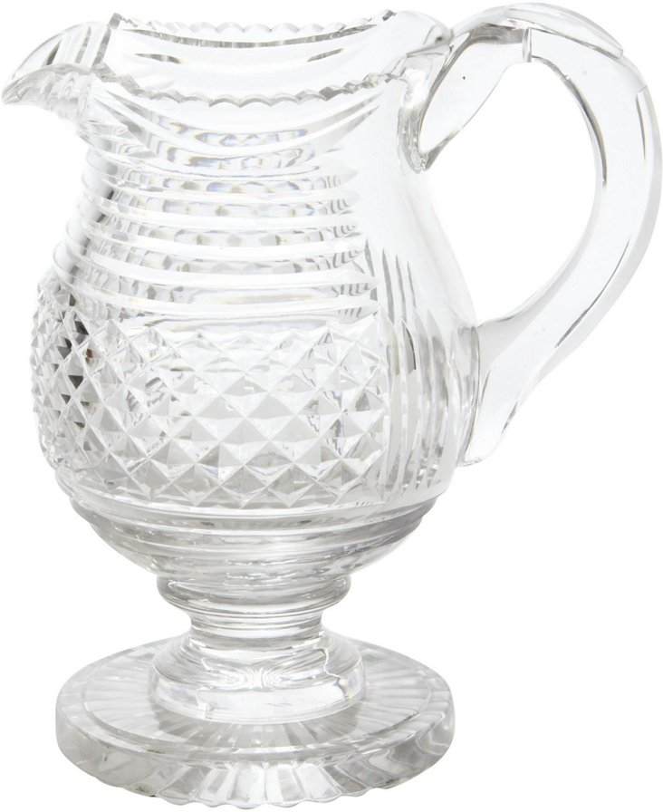 C. 1860 Crystal Water Pitcher