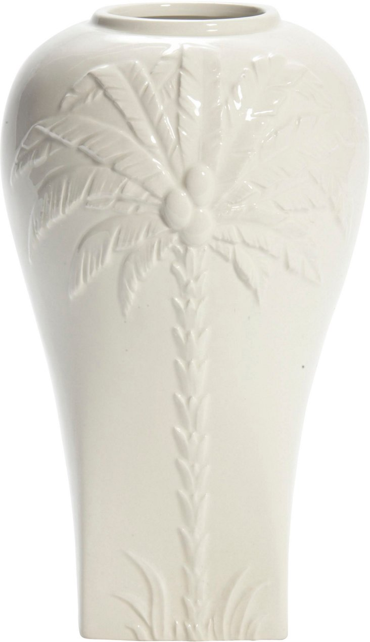 Cream Ball-Top Vase