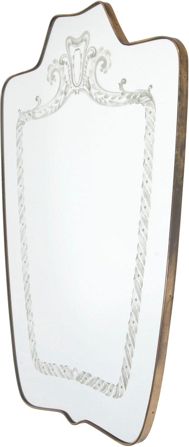Venetian Shield Mirror