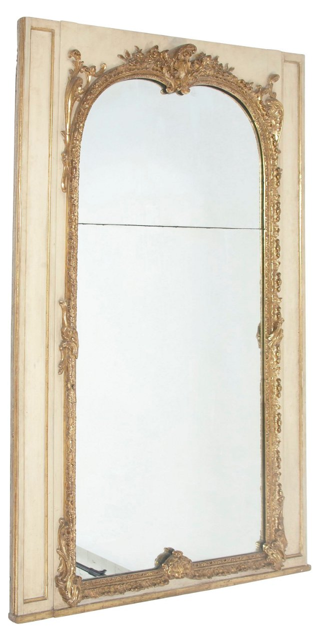 19th-C. Carved Giltwood Pier Mirror