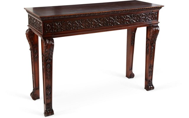 C. 1900 Chippendale-Style Serving Table