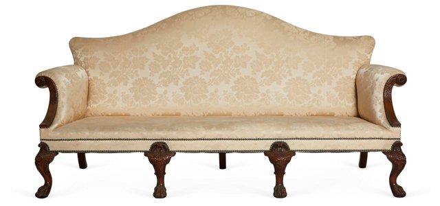 C. 1890 Irish Chippendale-Style Sofa