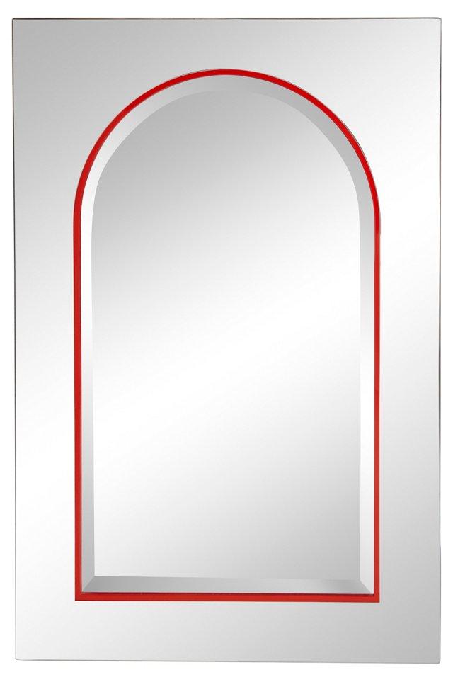 Arch Red Stripe Mirror