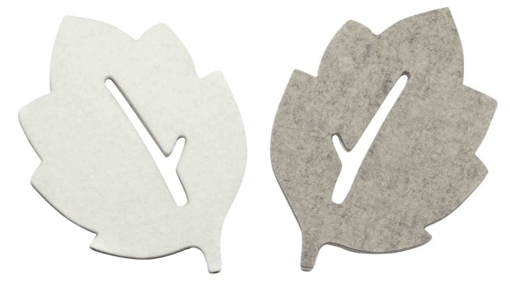 Asst of 4 Arbor Coasters, White
