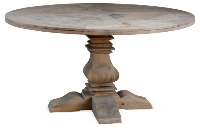 "60"" Reclaimed Round Dining Table"
