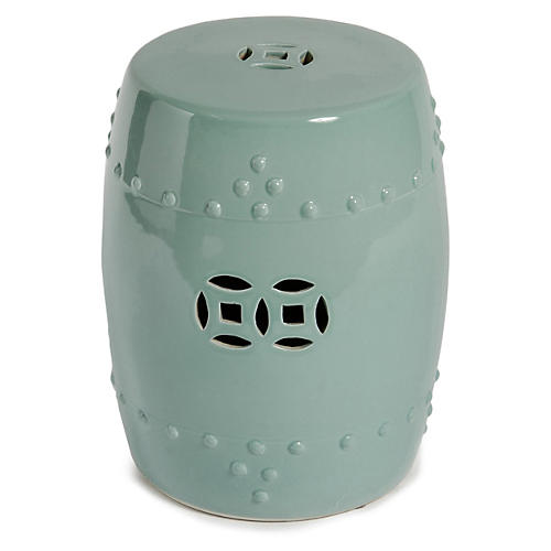 Kelly Garden Stool, Celadon