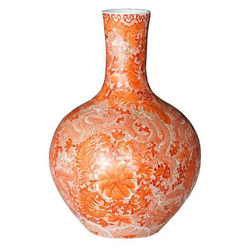 Globular Vase, Orange