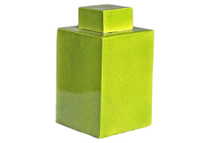 Square Tea Jar