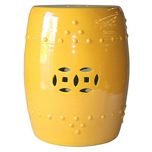 Kelly Garden Stool, Yellow