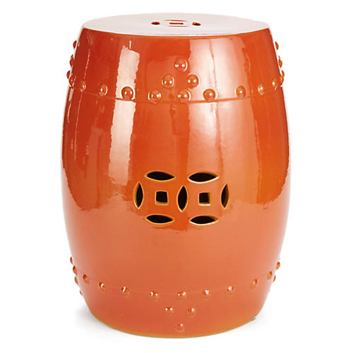 Kelly Garden Stool, Coral