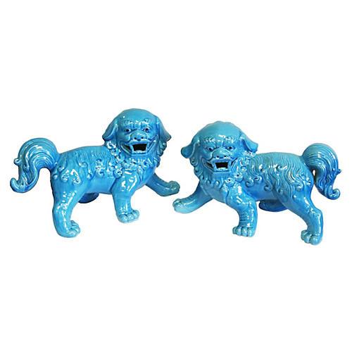 """7"""" Blue Walking Foo Dogs, Asst. of 2"""