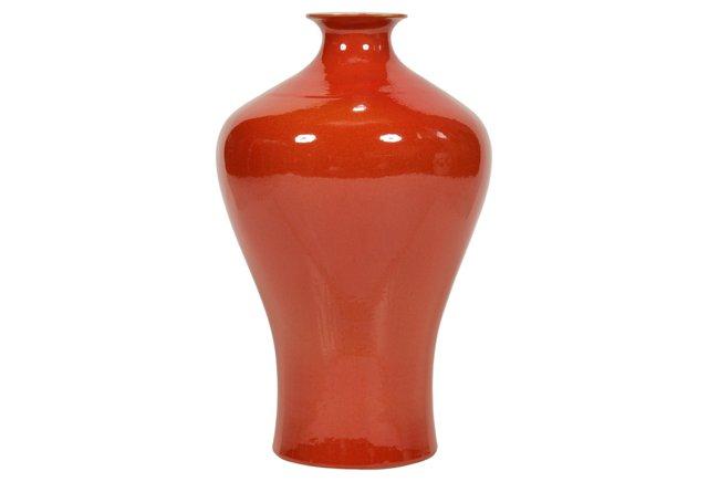"""17"""" Plum Vase, Orange"""