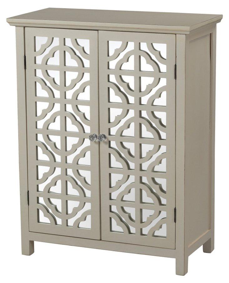 Vivien Mirrored Cabinet, Cream