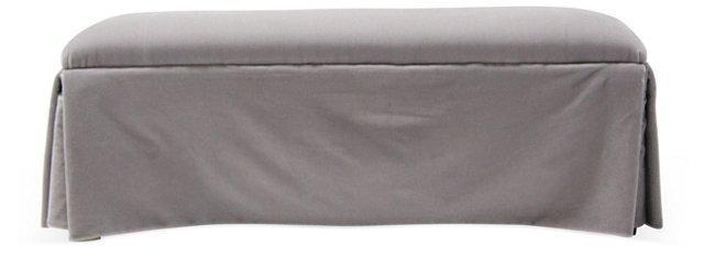 Upholstered Gray Bench