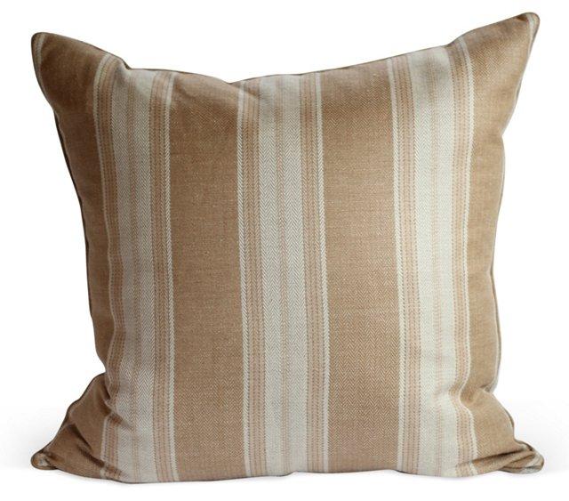 Striped Khaki Pillow