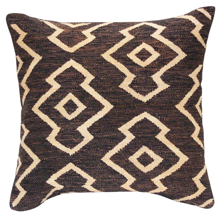 Dunton 24x24 Pillow, Brown