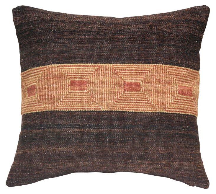 Sioux 24x24 Pillow, Brown