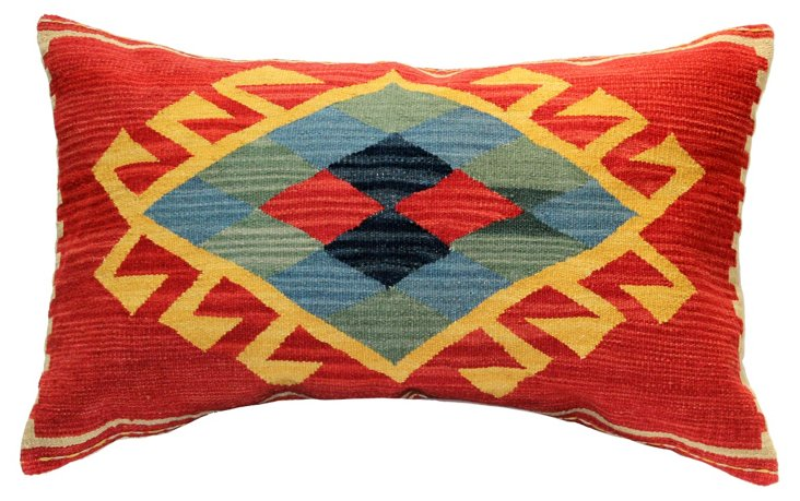 Central 22x34 Wool-Blended Pillow, Multi