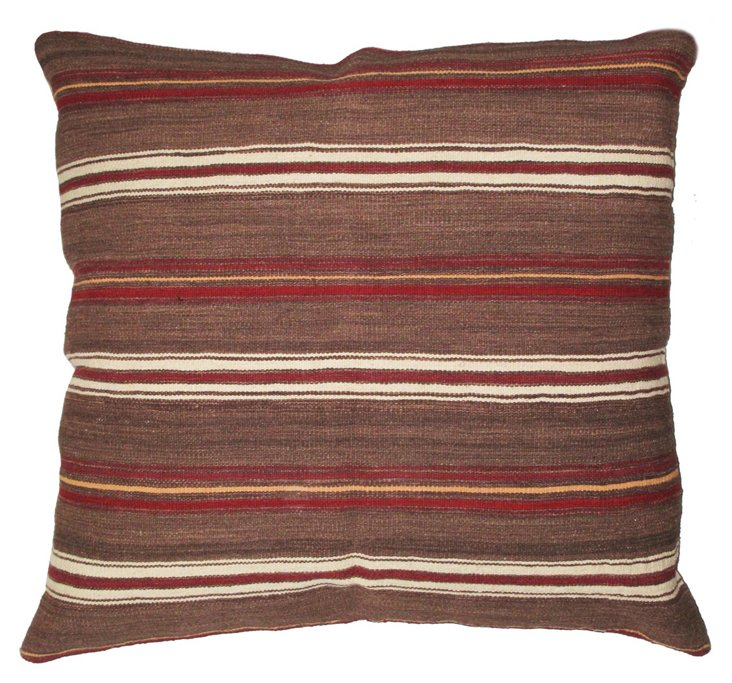Stripe 36x36 Wool-Blended Pillow, Multi