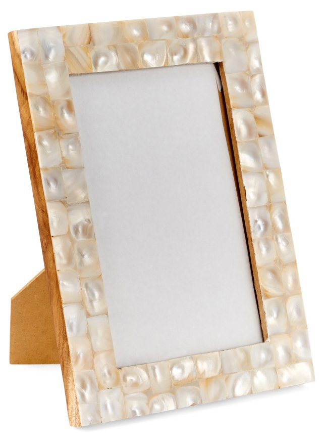 Mother-of-Pearl Frame, 4x6, Pearl
