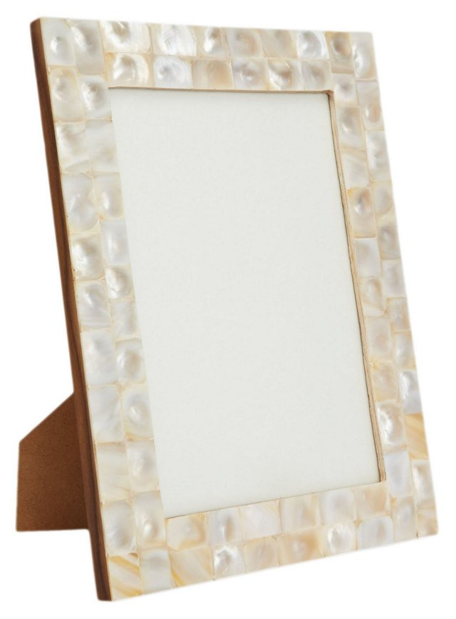 Mother-of-Pearl Frame, 8x10, White