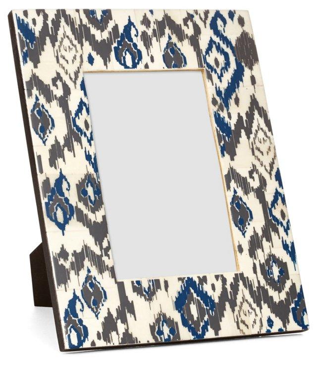 Bone Frame, 4x6, Blue/Gray