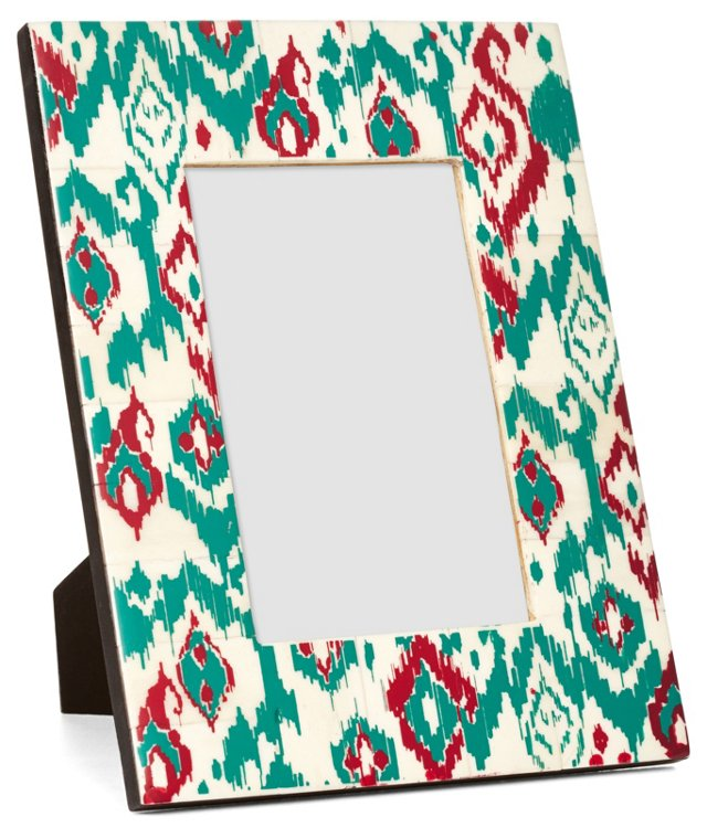Bone Frame, 4x6, Teal/Red