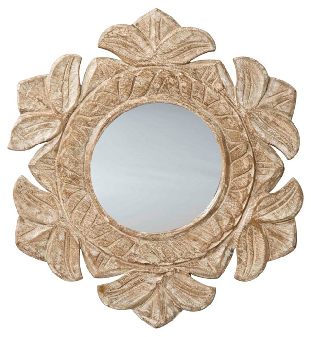 Kendall Accent Mirror, White Patina