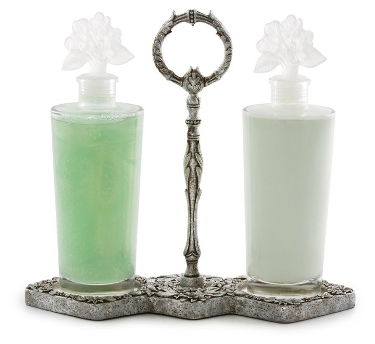 Celadon Lotion and Gel Decanters