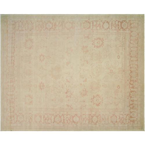 "9'x11'2"" Sultanabad Design Rug, Cream"