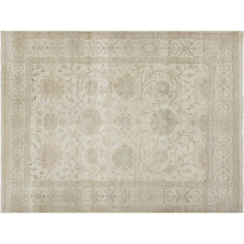 "7'11""x10'3"" Egyptian Sultanabad Rug, Ivory"