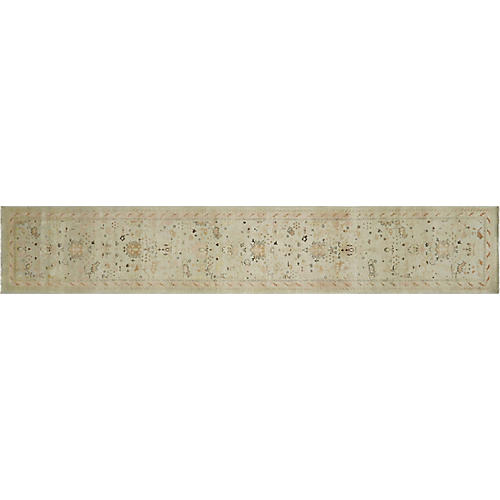 "2'10""x15'8"" Egyptian Sultanabad Runner, Seafoam"