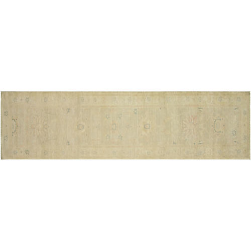 "2'3""x9'11"" Egyptian Sultanabad Runner, Beige/Red"